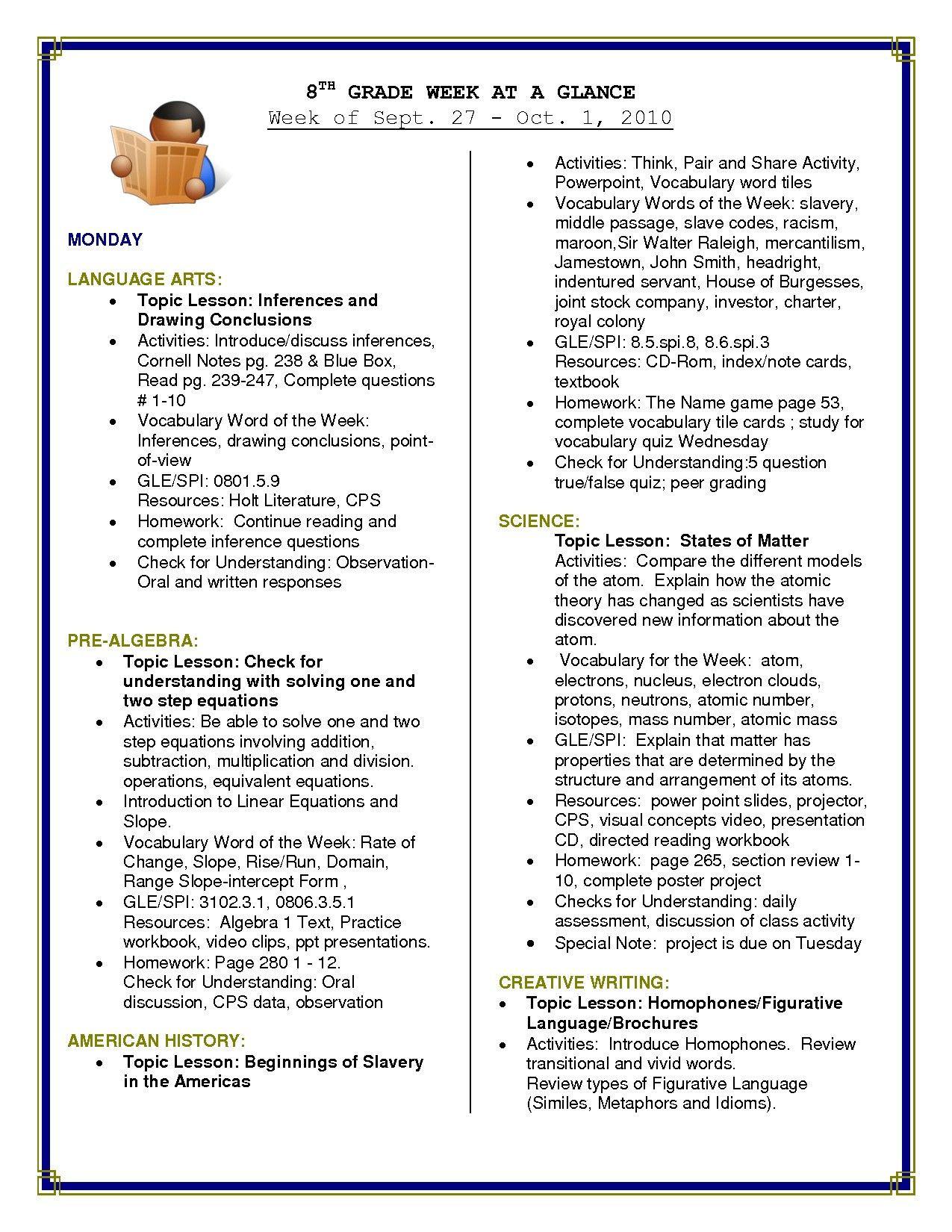 Language Arts Worksheets 8th Grade 8th Grade Reading Worksheets