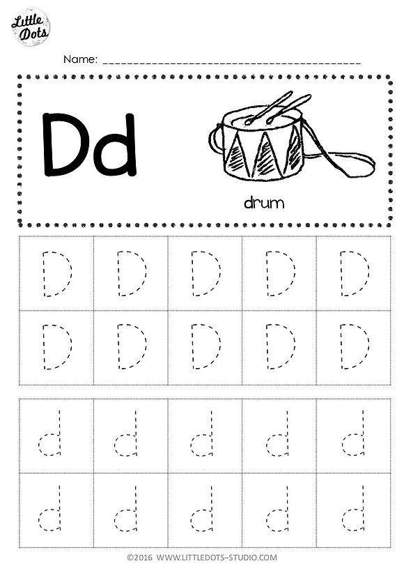 Letter D Worksheet Preschool Free Letter D Tracing Worksheets