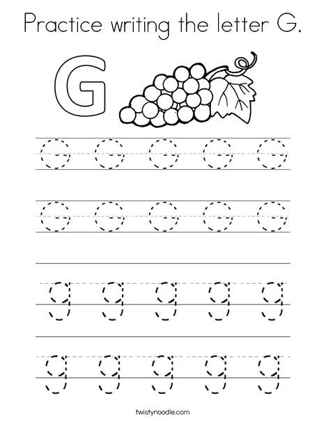 Letter G Worksheet Preschool Letter G Worksheets for Preschoolers – Girisx