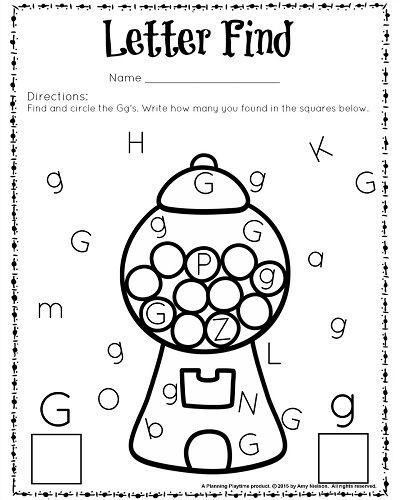 Letter G Worksheets Preschool Cute Letter Find Worksheets with A Freebie