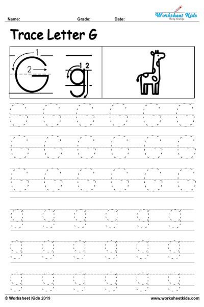 Letter G Worksheets Preschool Letter G Alphabet Tracing Worksheets Free Printable Pdf