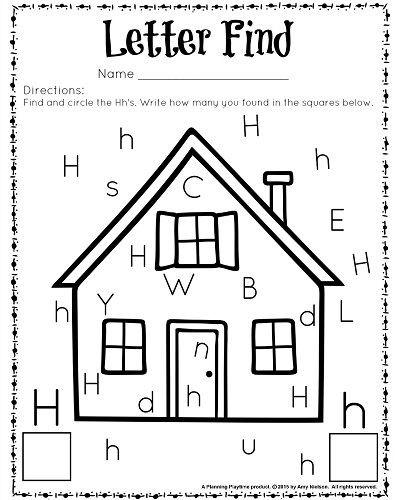 Letter H Worksheets for Kindergarten Cute Letter Find Worksheets with A Freebie