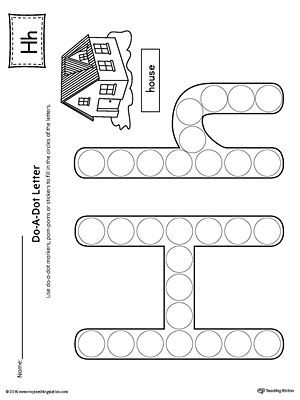 Letter H Worksheets for Kindergarten Letter H Do A Dot Worksheet