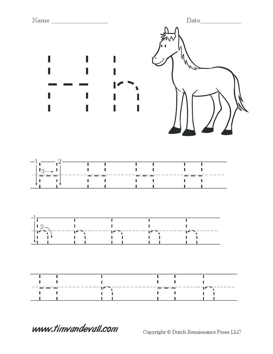 Letter H Worksheets for Kindergarten Letter H Worksheets Math Mathxl Answers Key – Beatricehewub