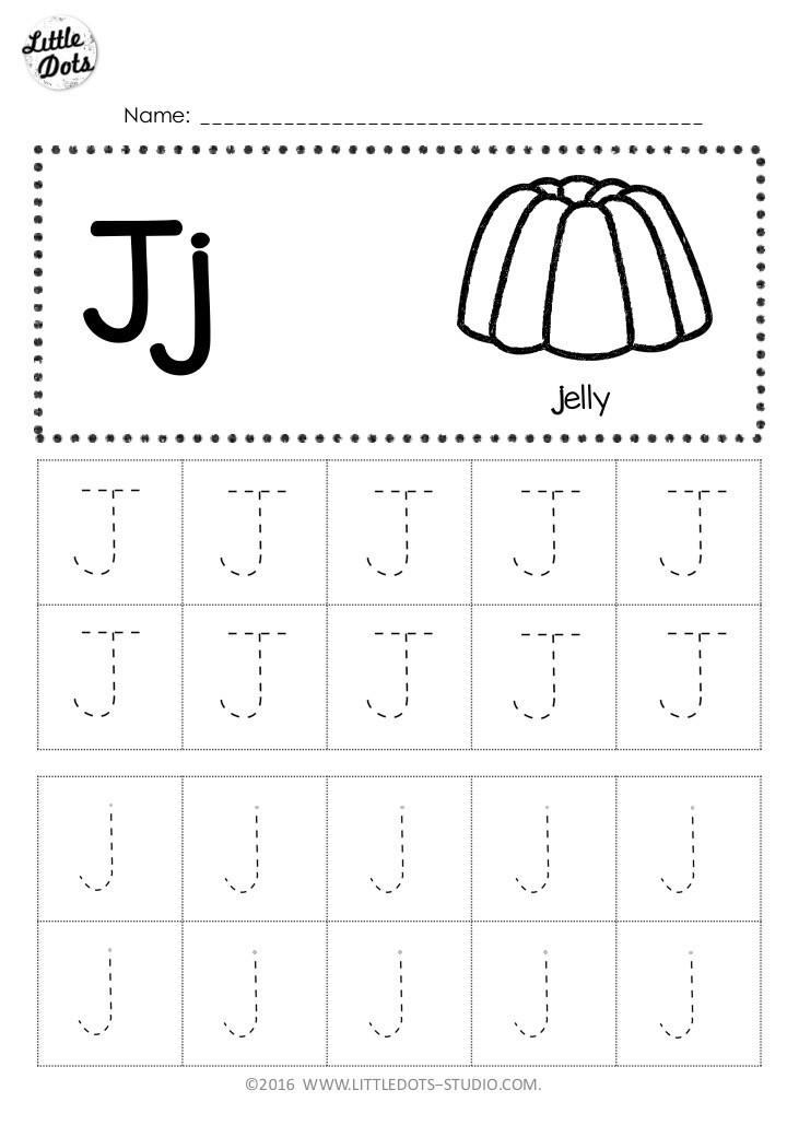 Letter J Tracing Worksheets Preschool Free Letter J Tracing Worksheets