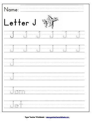 Letter J Tracing Worksheets Preschool Letter J Worksheets Recognize Trace & Print