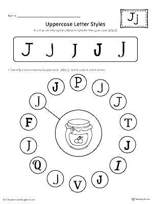 Letter J Tracing Worksheets Preschool Letter O Worksheets for Preschool Free Printable Letter J