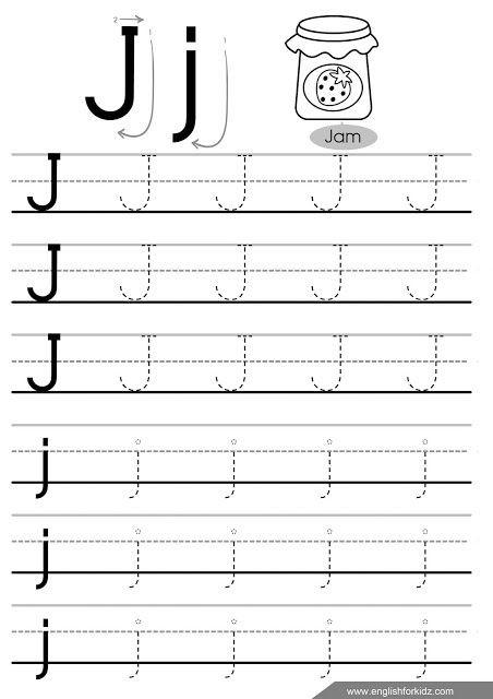Letter J Tracing Worksheets Preschool Letter Tracing Worksheets Letters A J