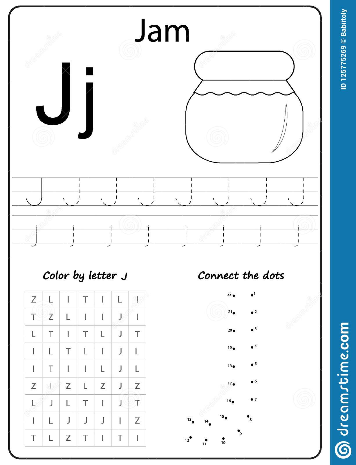 Letter J Tracing Worksheets Preschool Writing Letter J Worksheet Writing A Z Alphabet