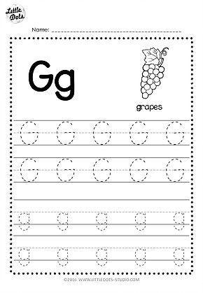 Letter K Tracing Worksheets Preschool Free Letter G Tracing Worksheets