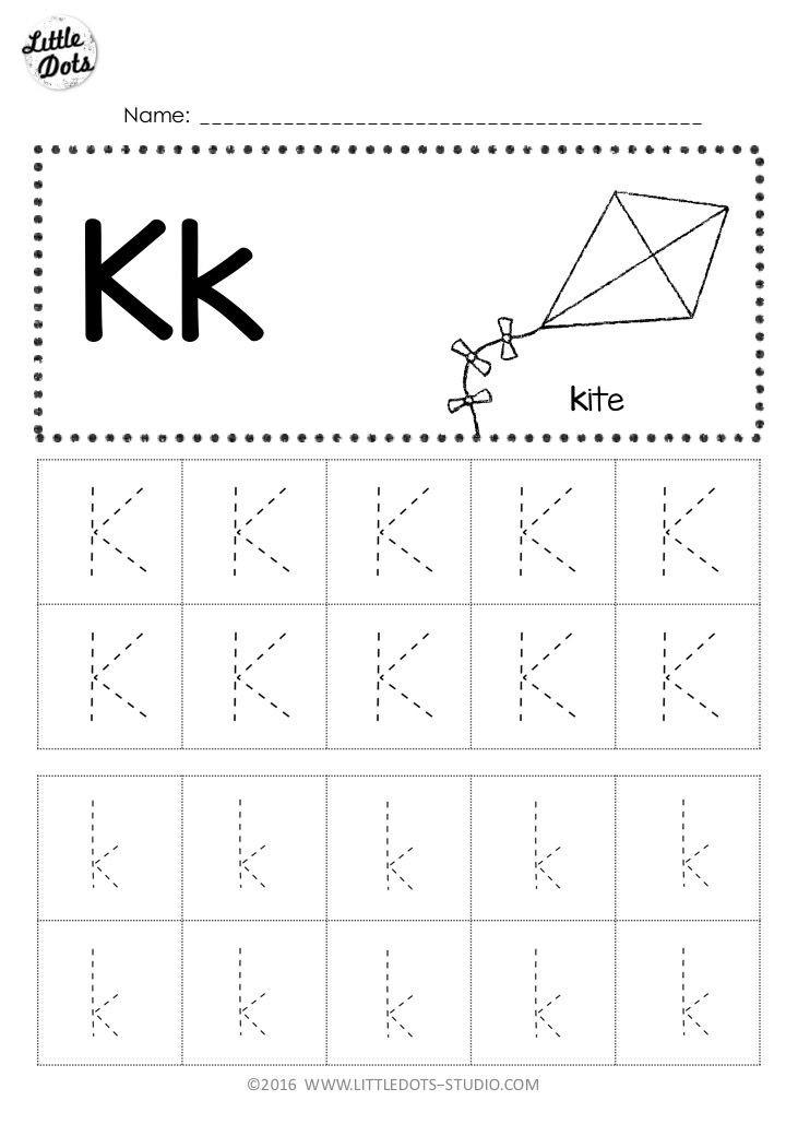 Letter K Tracing Worksheets Preschool Free Letter K Tracing Worksheets