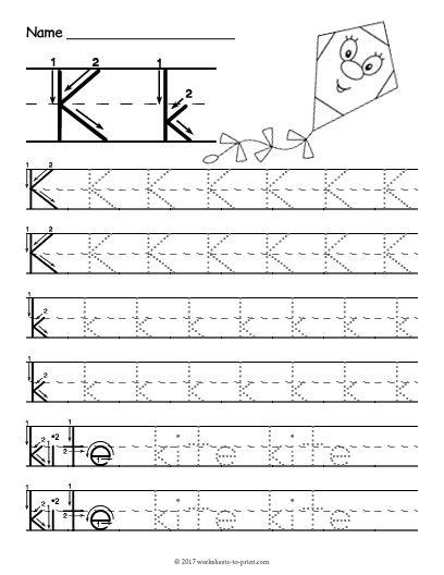 Letter K Tracing Worksheets Preschool Free Printable Tracing Letter K Worksheet