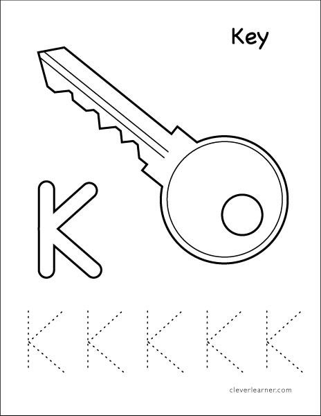Letter K Tracing Worksheets Preschool Letter K Writing and Coloring Sheet