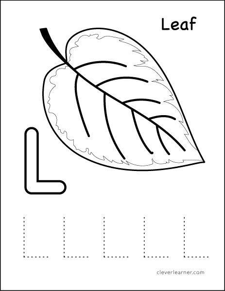 Letter L Worksheet for Preschool L Stands for Leaf Preschool Worksheet