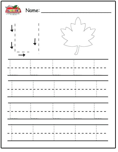 Letter L Worksheet for Preschool Letter L Worksheets for Preschoolers Letter L Trace Page