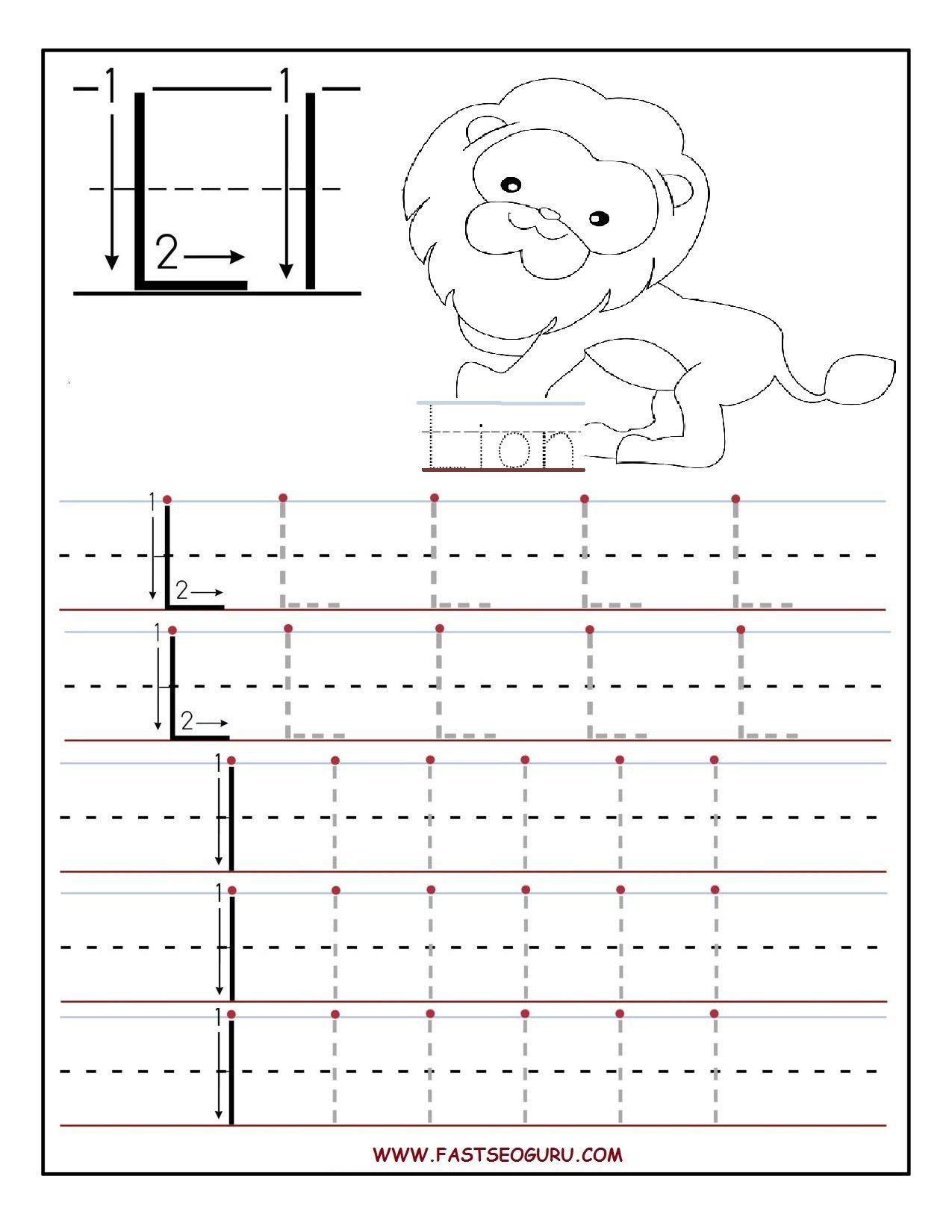 Letter L Worksheet for Preschool Printable Letter L Tracing Worksheets for Preschool
