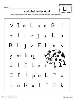 Letter L Worksheet Preschool Alphabet Letter Hunt Letter L Worksheet