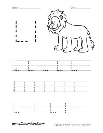Letter L Worksheet Preschool Free Alphabet Dot to Dot