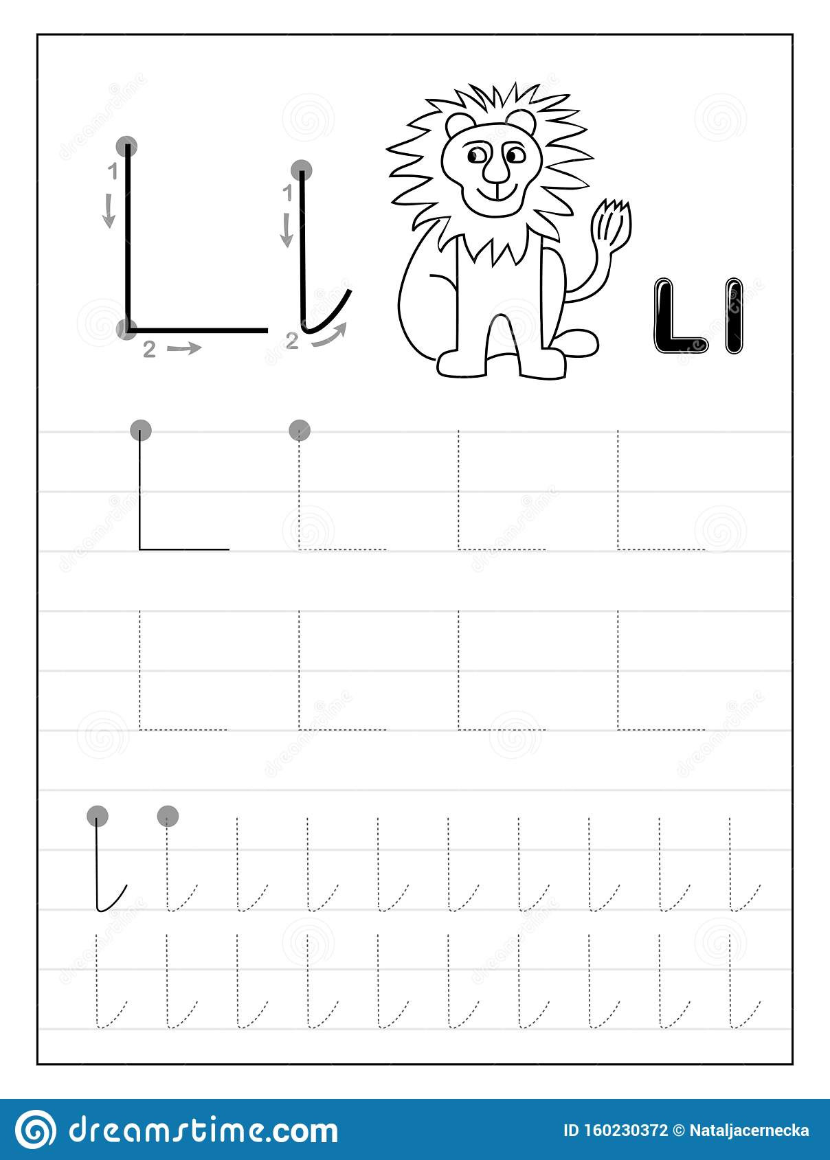 Letter L Worksheet Preschool Tracing Alphabet Letter L Black and White Educational Pages