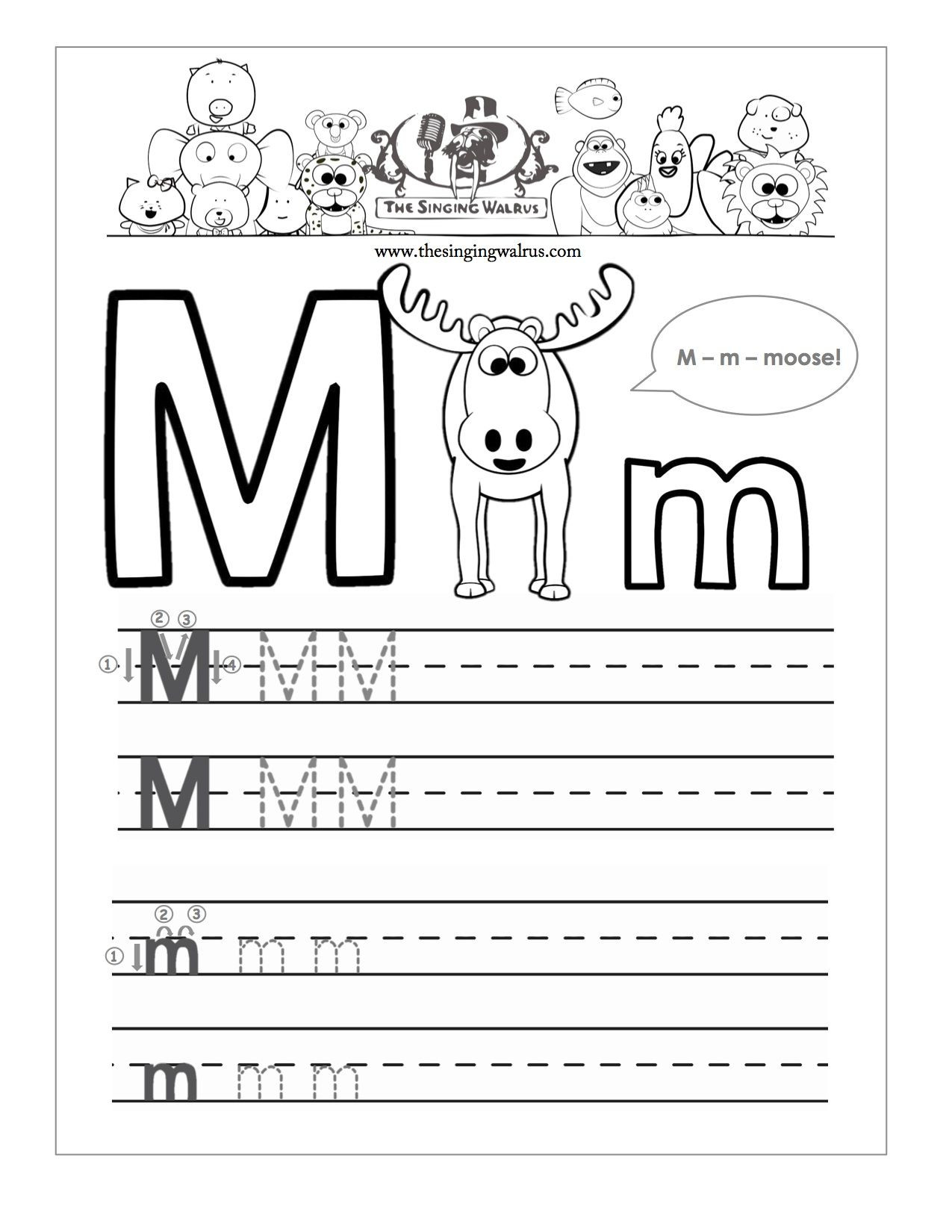 Letter M Worksheets Kindergarten Beautiful Letter M Writing Worksheet