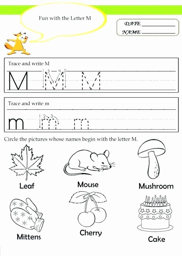 Letter M Worksheets Kindergarten Letter M Worksheets Kindergarten Free Printable Preschool