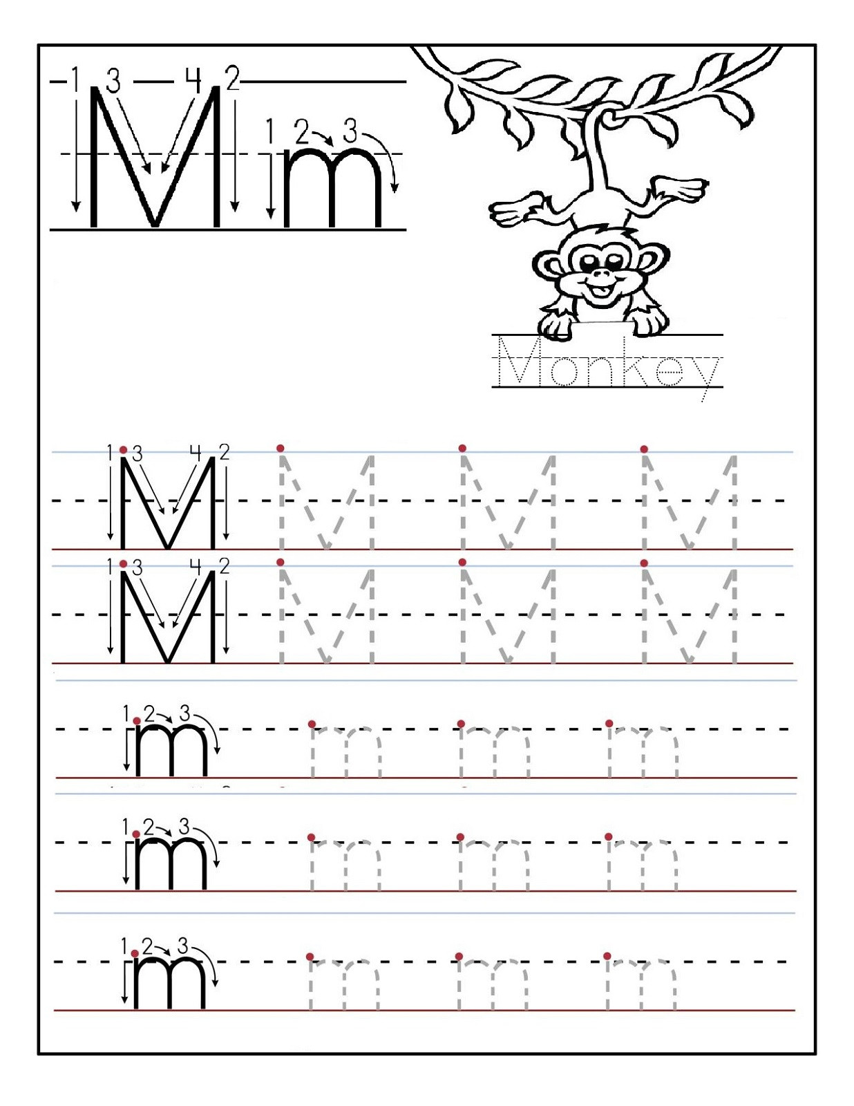 Letter M Worksheets Kindergarten Letter M Worksheets