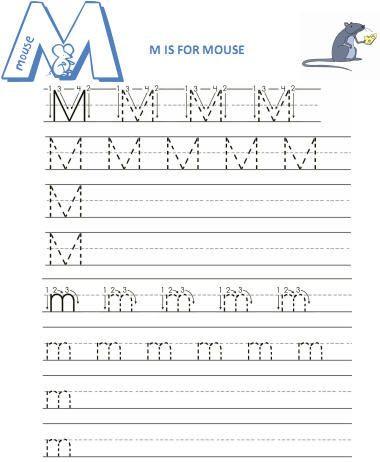 Letter M Worksheets Kindergarten Practice Writing Letter M Worksheet 1