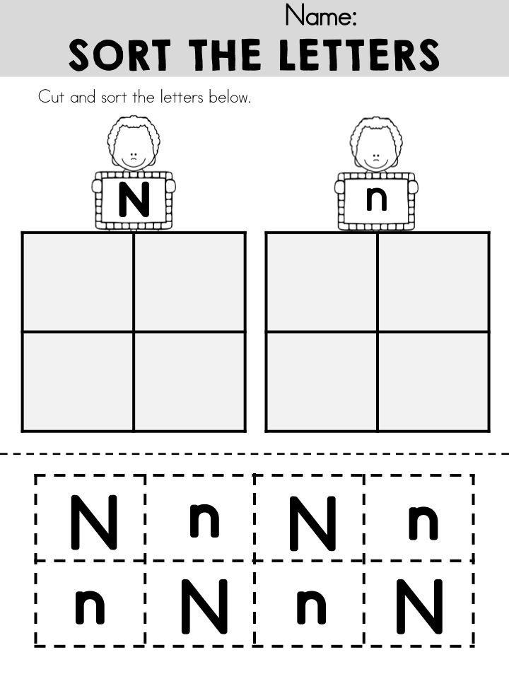 Letter N Preschool Worksheets Alphabet Adventures Letter N