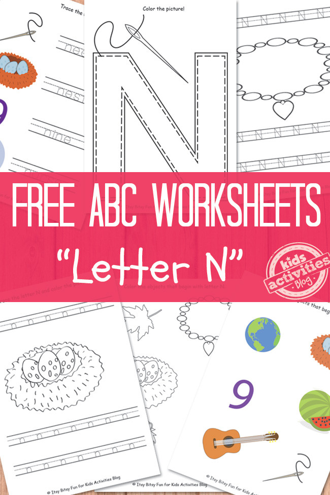 Letter N Worksheets for Kindergarten Letter N Worksheets Free Kids Printable