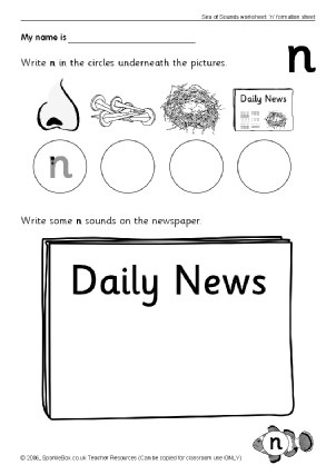 Letter N Worksheets Kindergarten Letter N Phonics Activities and Printable Teaching Resources