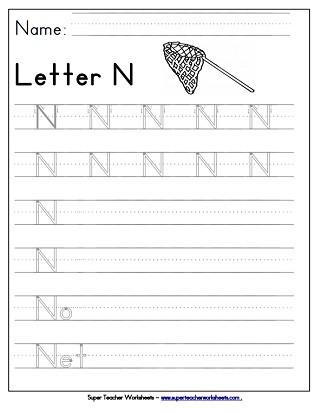 Letter N Worksheets Kindergarten Letter N Worksheets Recognize Trace & Print