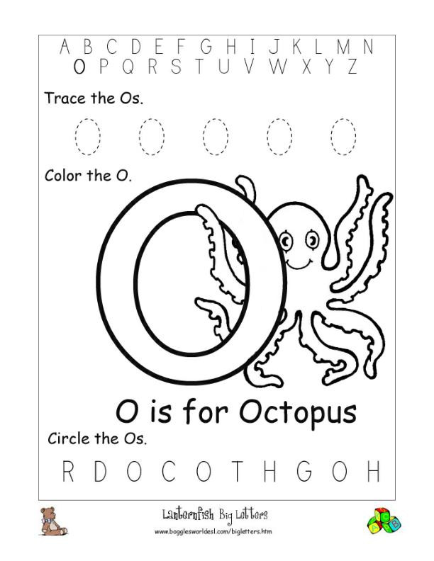Letter O Worksheet for Kindergarten Letter O Alphabet Worksheets