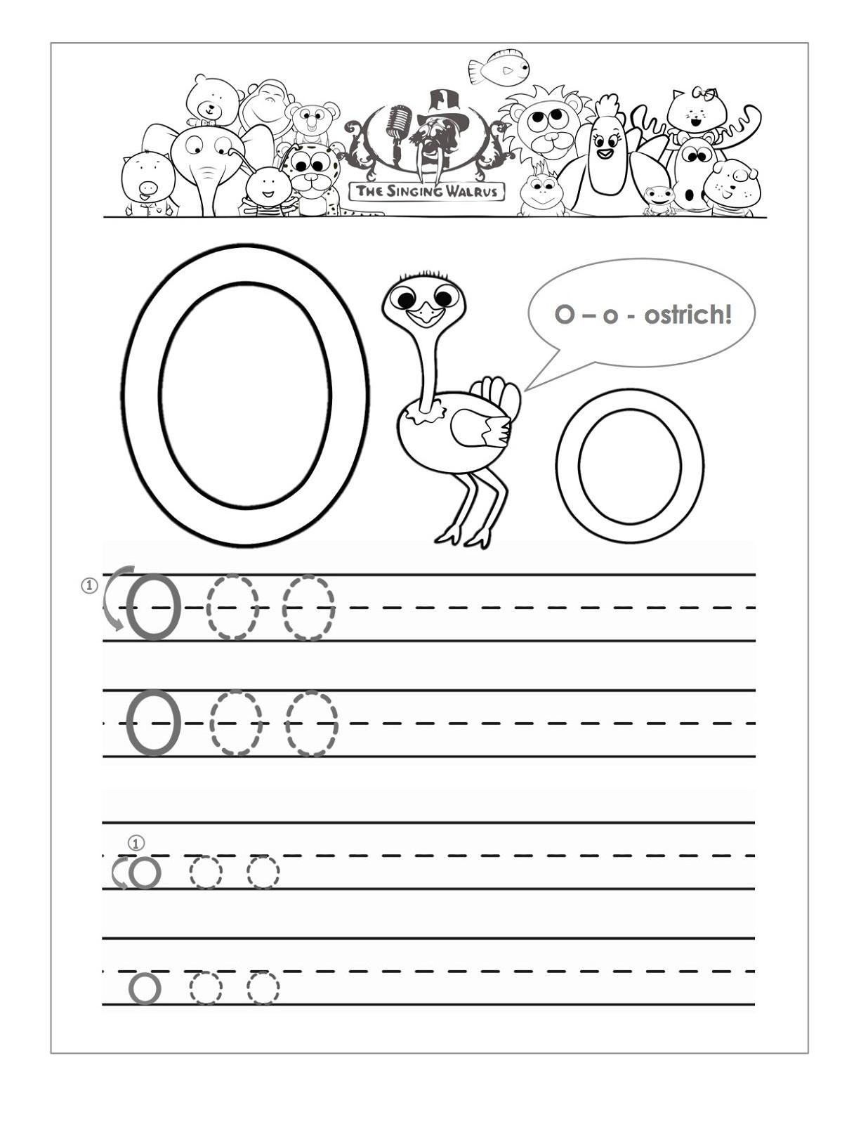 Letter O Worksheet for Kindergarten Letter O Worksheets for Preschool