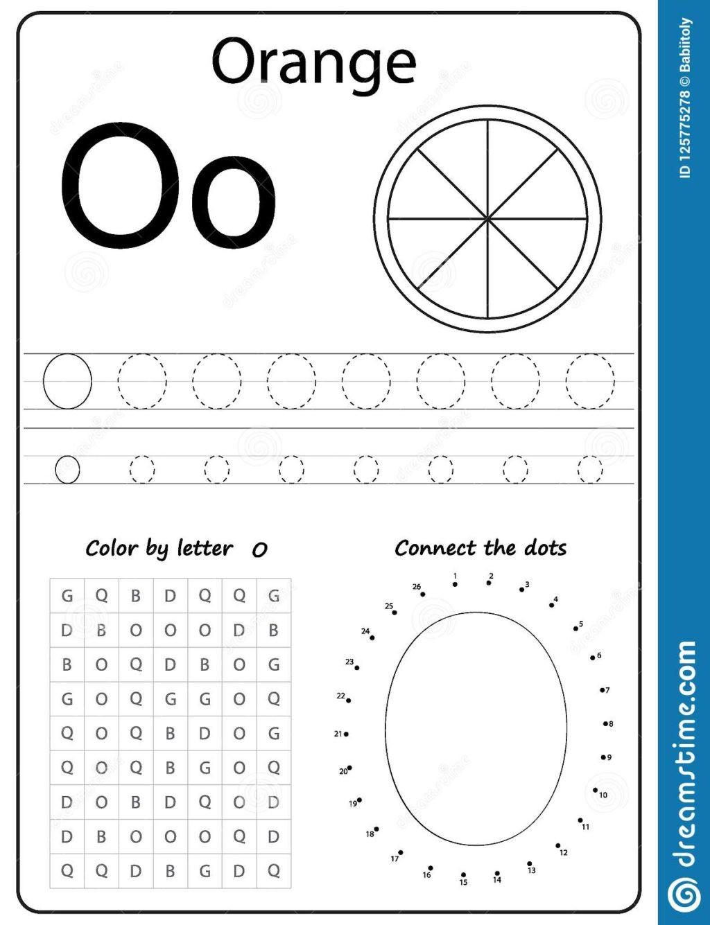 Letter O Worksheet for Kindergarten Worksheet Alphabet Letter O Worksheet Task Kids Learning