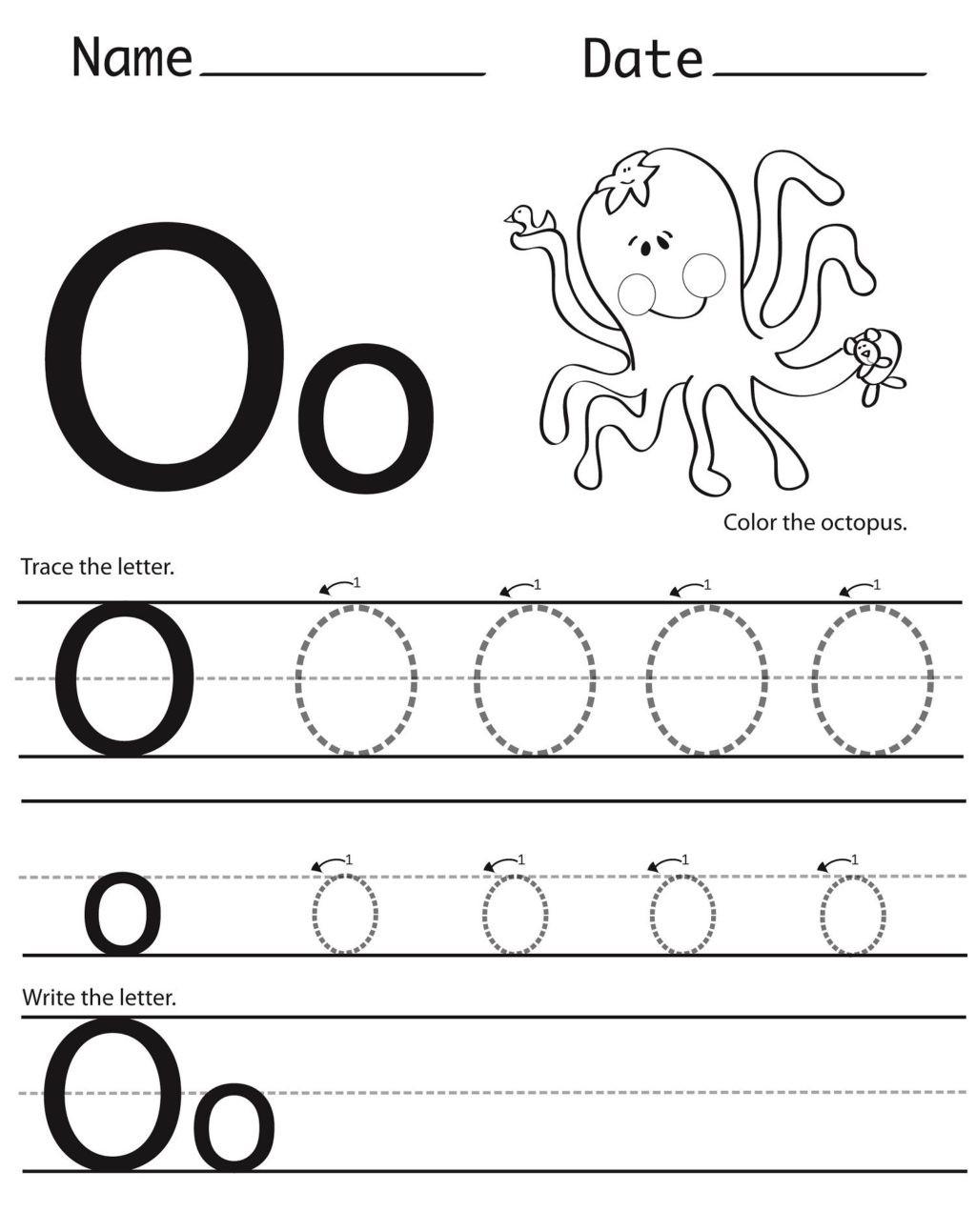 Letter O Worksheet for Kindergarten Worksheet Worksheet O Worksheets for Kindergarten Long