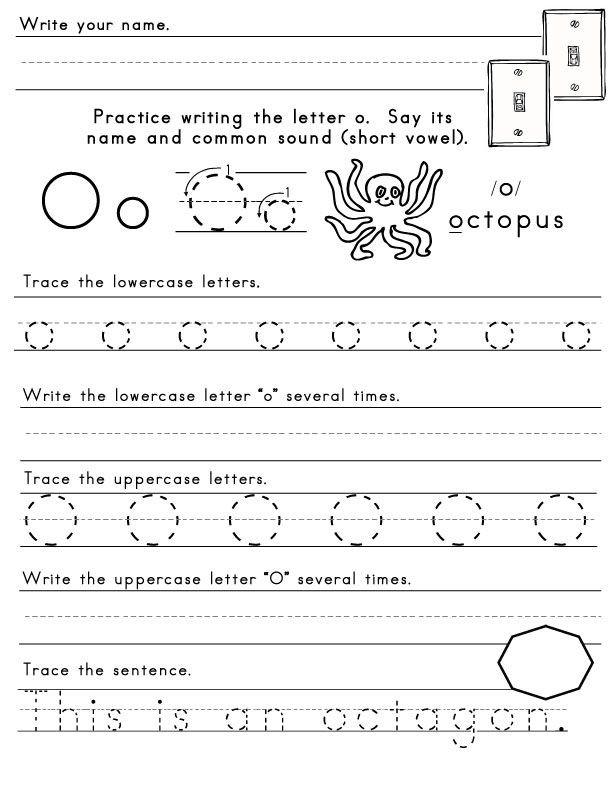 Letter O Worksheets for Preschool the Letter O