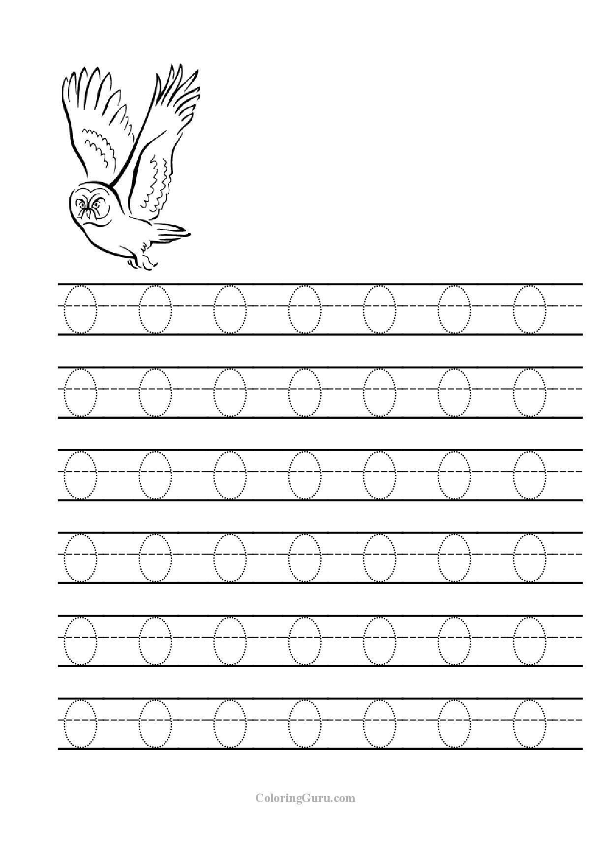 Letter O Worksheets for Preschool Tracing Letter O Worksheets for Preschool 1 240—1 754