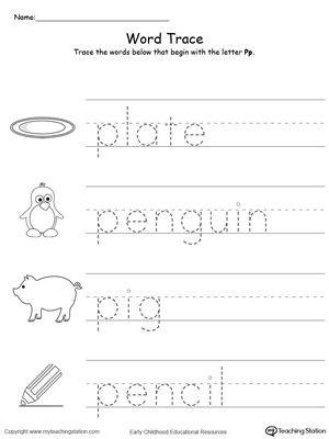 Letter P Preschool Worksheets Early Childhood Alphabet Worksheets