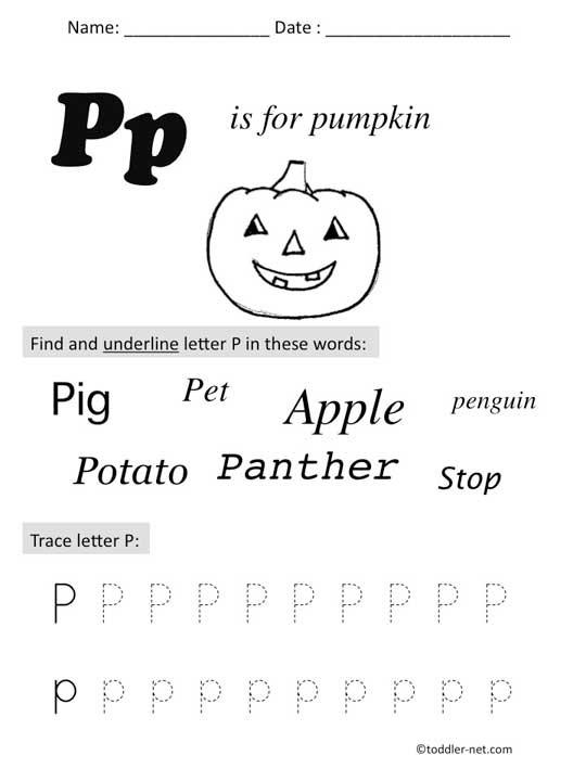 Letter P Preschool Worksheets Free Printable Letter P Preschool Worksheet