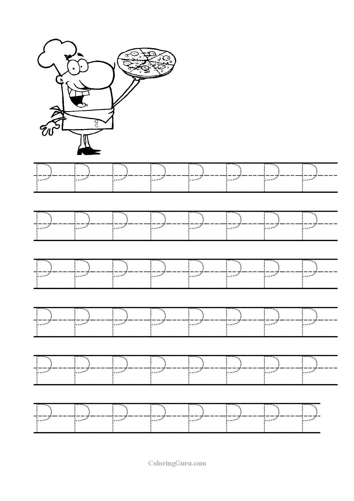 Letter P Preschool Worksheets Free Printable Tracing Letter P Worksheets for Preschool