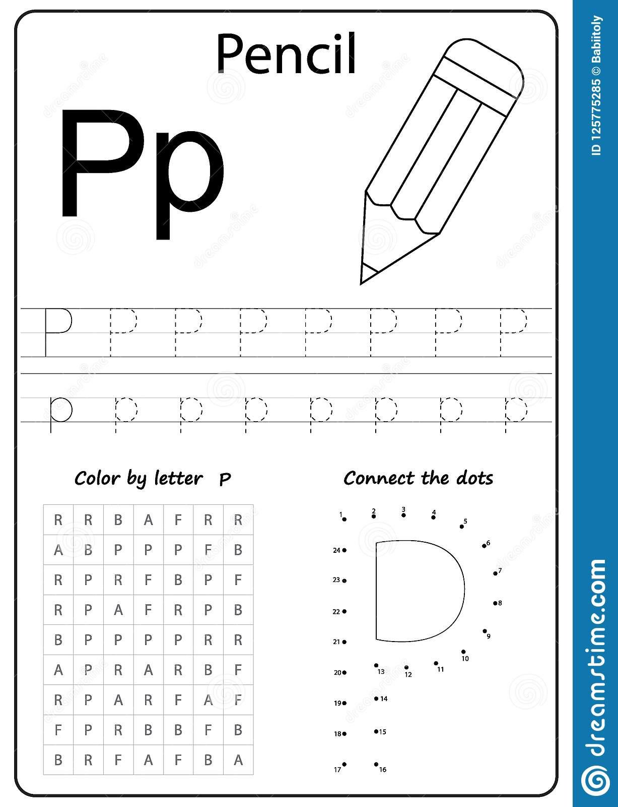 Letter P Preschool Worksheets Writing Letter P Worksheet Writing A Z Alphabet