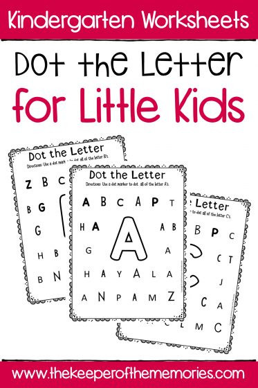 Letter Recognition Worksheets for Kindergarten Dot the Letter Alphabet Kindergarten Worksheets for Little Kids