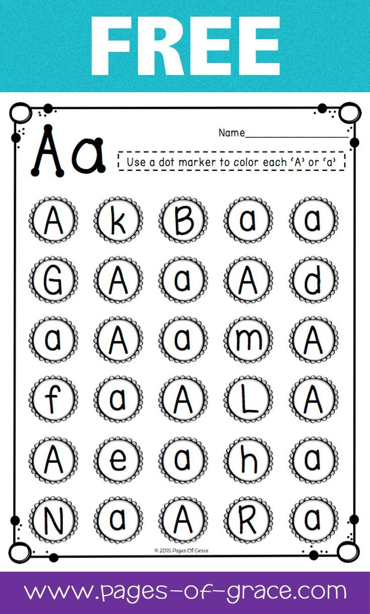 Letter Recognition Worksheets for Kindergarten Letter Recognition