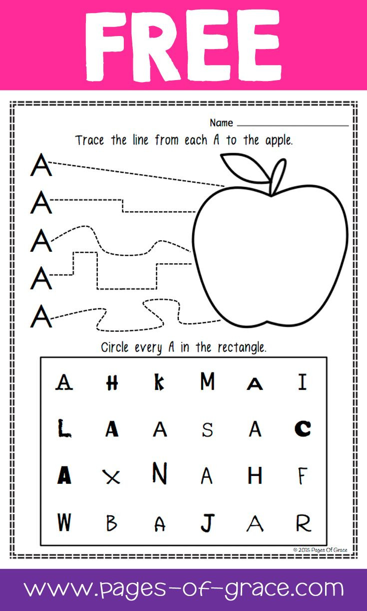 Letter Recognition Worksheets for Kindergarten Letter Recognition Worksheets for Kindergarten & 17 Best