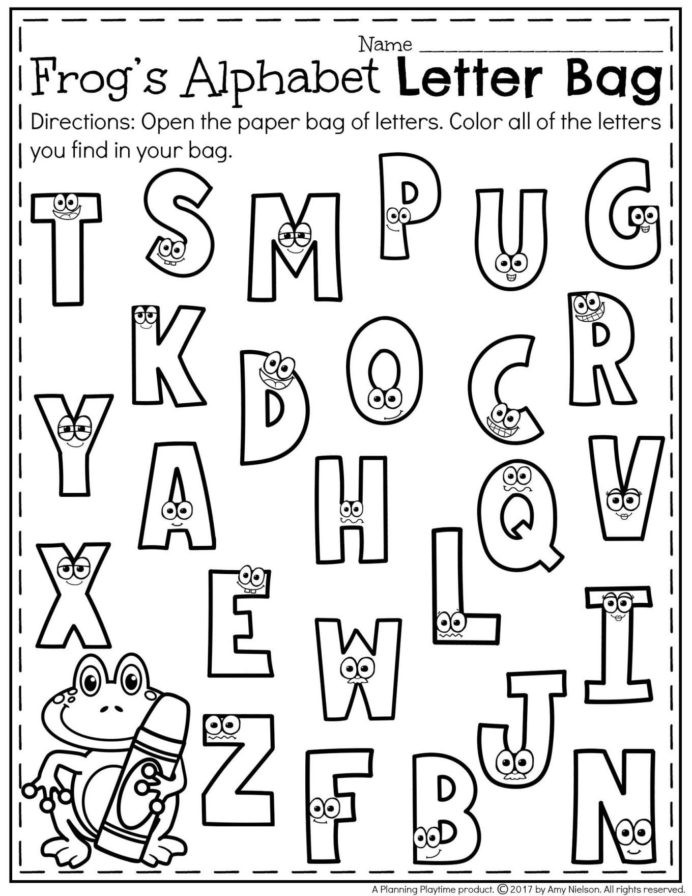 Letter Recognition Worksheets for Kindergarten Letter Recognition Worksheets In Kindergarten Name
