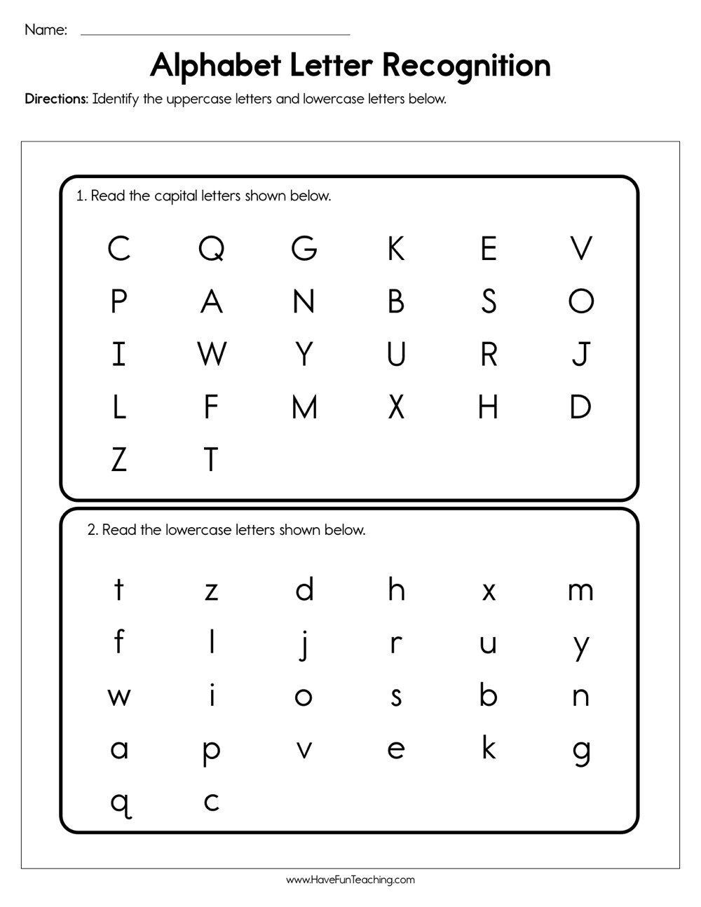 Letter Recognition Worksheets for Kindergarten Pin On Printable Worksheet for Kindergarten