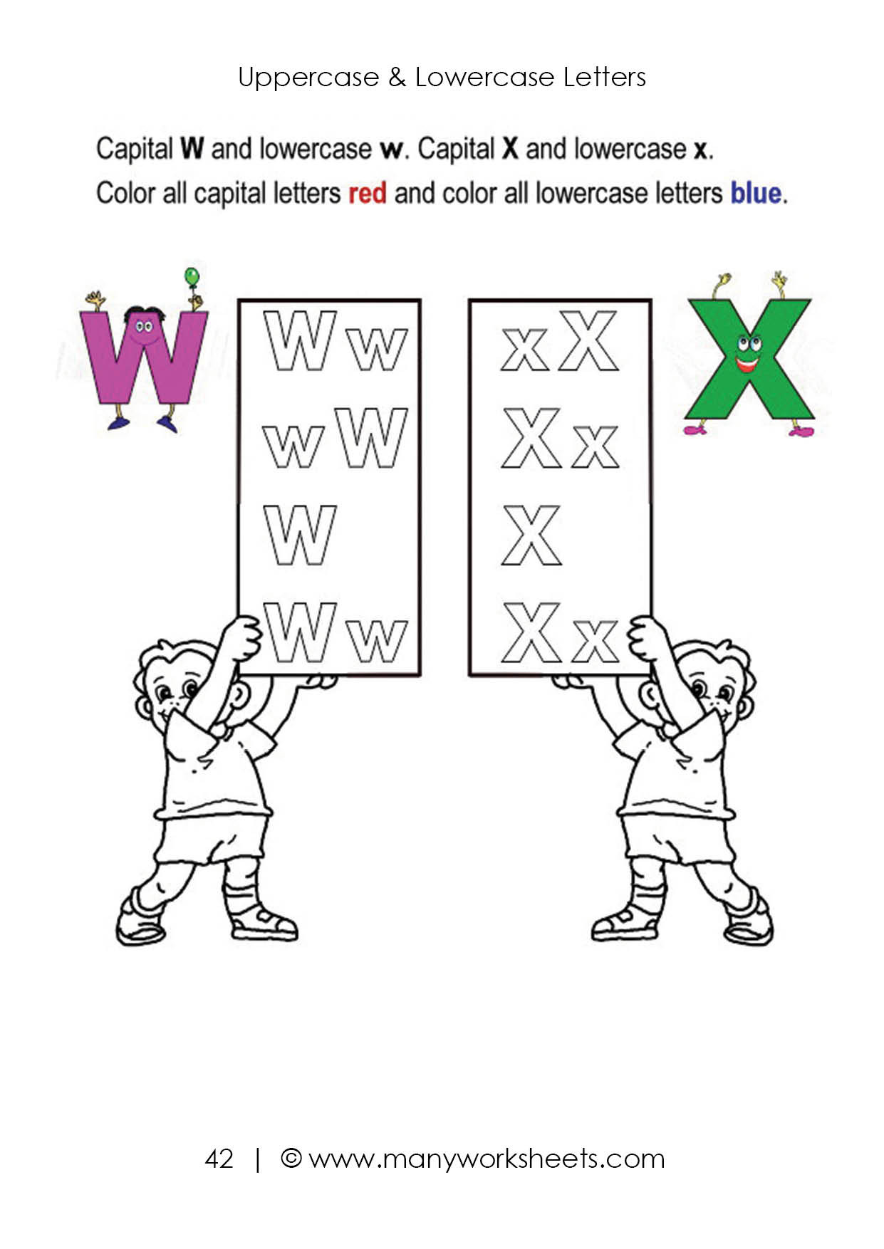 Letter Recognition Worksheets for Kindergarten Uppercase and Lowercase Letters Recognition Worksheet