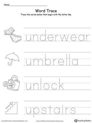 Letter U Worksheets for Kindergarten Early Childhood Alphabet Worksheets