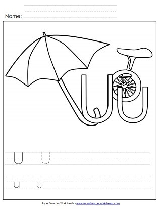 Letter U Worksheets for Kindergarten Letter U Worksheets Recognize Trace & Print