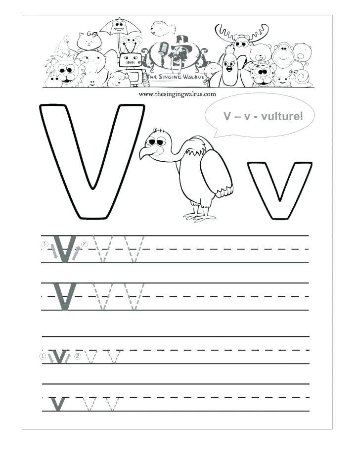 Letter V Worksheets Preschool 12 Learning the Letter V Worksheets